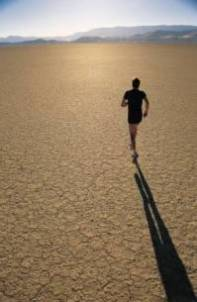 running on the desert
