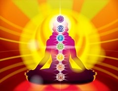 Chakra centers in the body