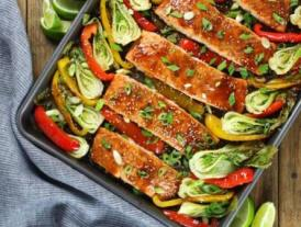 salmon veggies