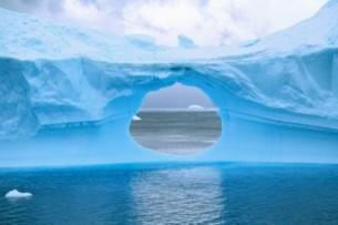 hole in glacier wall