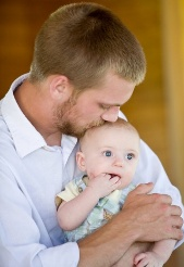 father with a baby