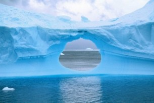 hole in glacier wall