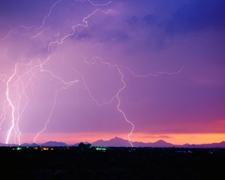 A thunderstorm is common during monsoon season