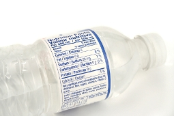bottled water label