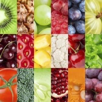 colorful fruits vegetables