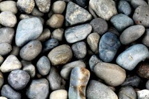 dry river rocks