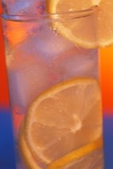 glass of lemon slices
