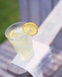 A refreshing glass of lemon water